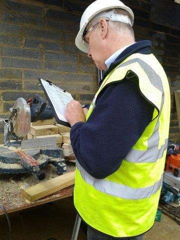 We carry out site inspections on construction sites as part of our health and safety advisor role